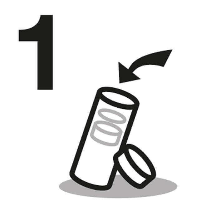 Glasflasche Anleitung 1